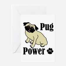 Pug Power Greeting Card