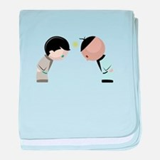 Bowing Opponents baby blanket