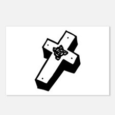 Boxed Floral Cross Postcards (Package of 8)