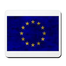 Distressed European Union Flag Mousepad