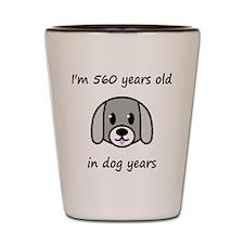 80 dog years 2 Shot Glass