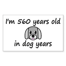80 dog years 2 - 3 Decal