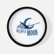 Old Devil Moon Wall Clock