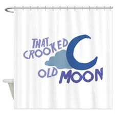 Cooked Old Moon Shower Curtain