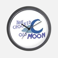 Cooked Old Moon Wall Clock
