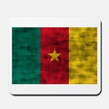 Distressed Cameroon Flag Mousepad