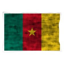 Distressed Cameroon Flag Pillow Case