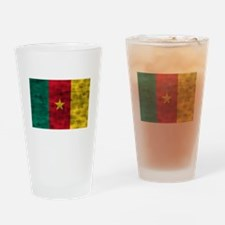 Distressed Cameroon Flag Drinking Glass