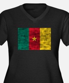 Distressed Cameroon Flag Plus Size T-Shirt