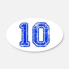 10-Col blue Oval Car Magnet