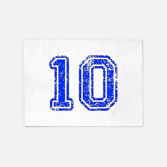 10-Col blue 5'x7'Area Rug