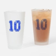 10-Col blue Drinking Glass