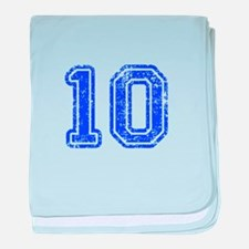 10-Col blue baby blanket