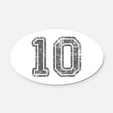 10-Col gray Oval Car Magnet