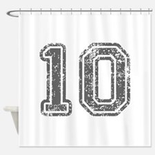 10-Col gray Shower Curtain