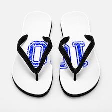 100-Col blue Flip Flops