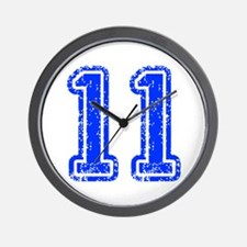 11-Col blue Wall Clock