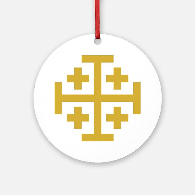 Crusaders Cross Ornament (Round)