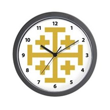 Crusaders Cross Wall Clock