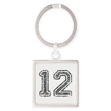 12-Col gray Keychains