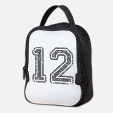 12-Col gray Neoprene Lunch Bag