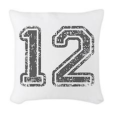 12-Col gray Woven Throw Pillow
