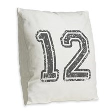 12-Col gray Burlap Throw Pillow