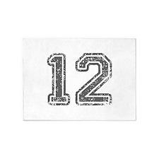 12-Col gray 5'x7'Area Rug