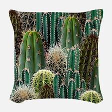 CACTUS PATCH Woven Throw Pillow
