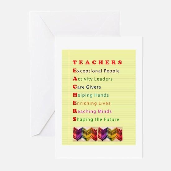 Teachers Shape the Future Greeting Cards