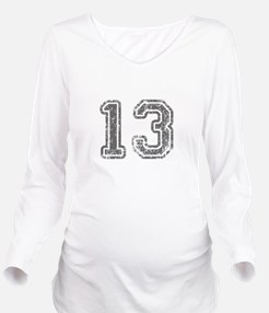 13-Col gray Long Sleeve Maternity T-Shirt