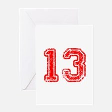 13-Col red Greeting Cards