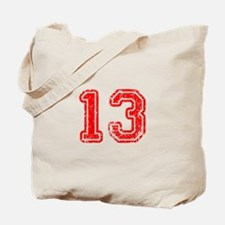 13-Col red Tote Bag