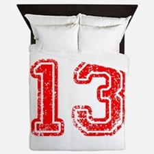 13-Col red Queen Duvet