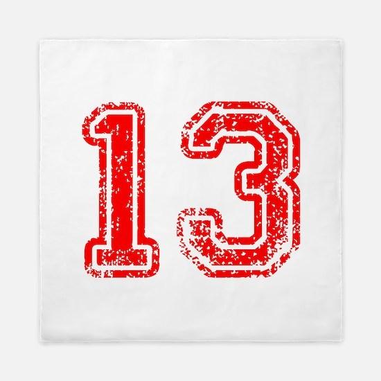 13-Col red Queen Duvet