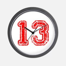 13-Col red Wall Clock