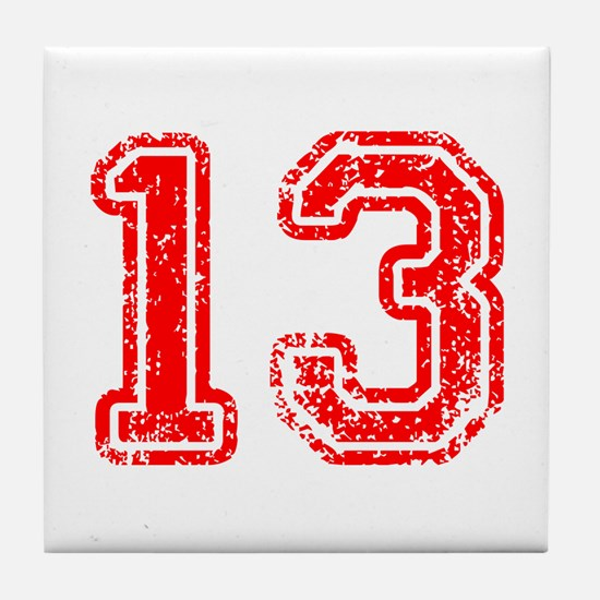 13-Col red Tile Coaster