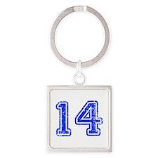 14-Col blue Keychains
