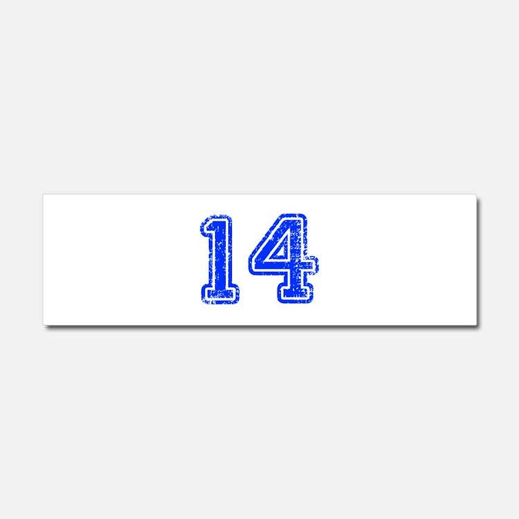 14-Col blue Car Magnet 10 x 3