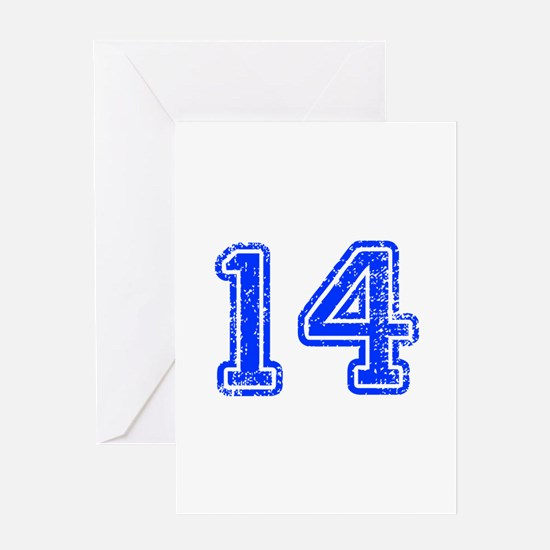 14-Col blue Greeting Cards