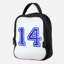 14-Col blue Neoprene Lunch Bag
