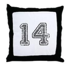 14-Col gray Throw Pillow