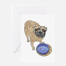 Dinner Pug Greeting Card