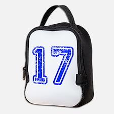 17-Col blue Neoprene Lunch Bag