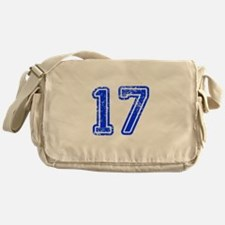 17-Col blue Messenger Bag