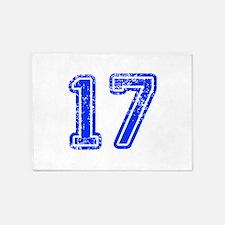 17-Col blue 5'x7'Area Rug