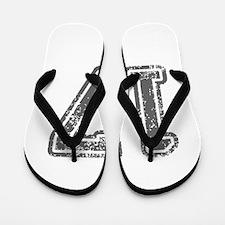 17-Col gray Flip Flops
