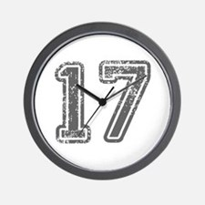 17-Col gray Wall Clock