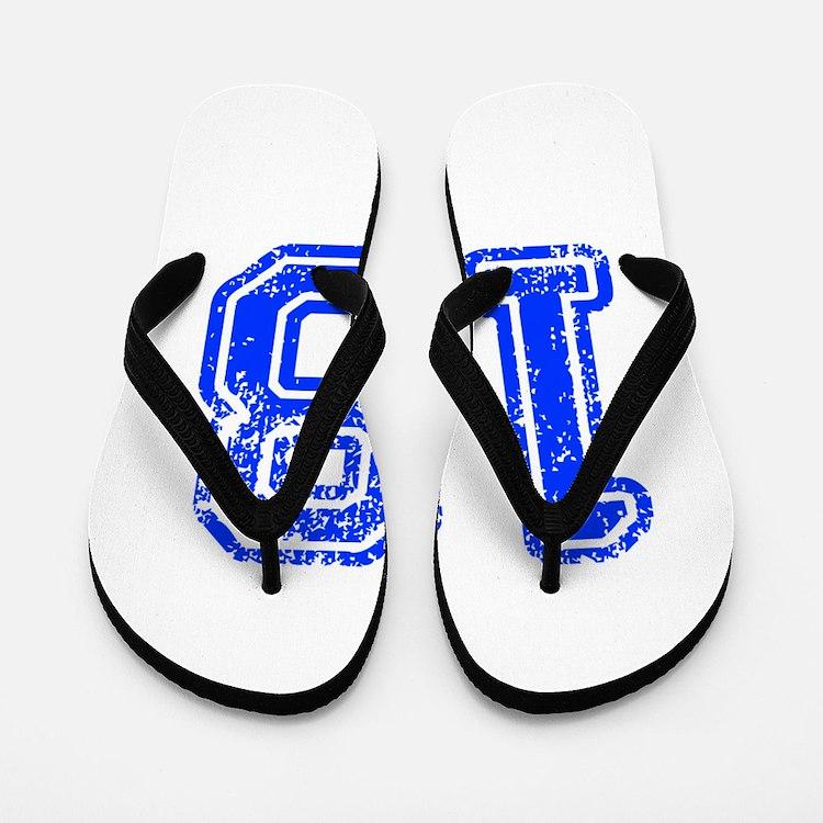 18-Col blue Flip Flops