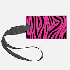 Pink Zebra Print Luggage Tag